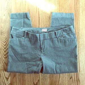 EUC Merona gray dress pants size 18 cropped/ankle